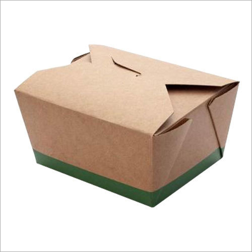 Plain Corrugated Takeout Box