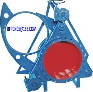 Worm Gear Operated Sector Blind Plate Valve