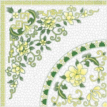 White Glossy Floor Tiles