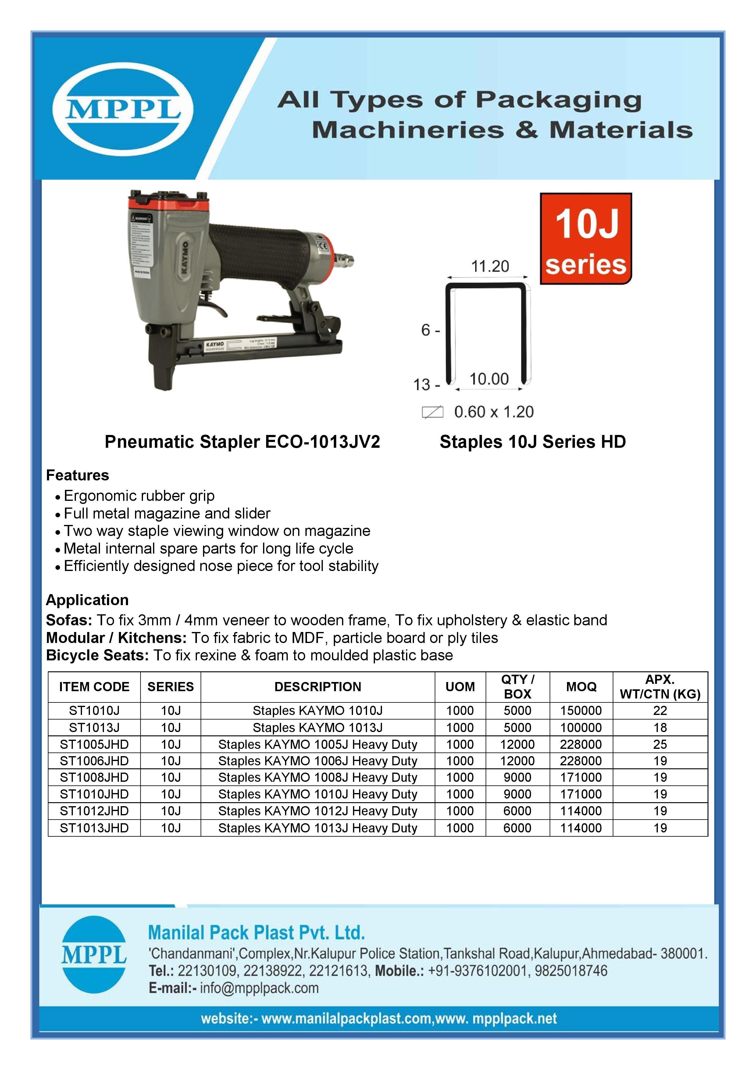 Pneumatic Stapler ECO-1013JV2