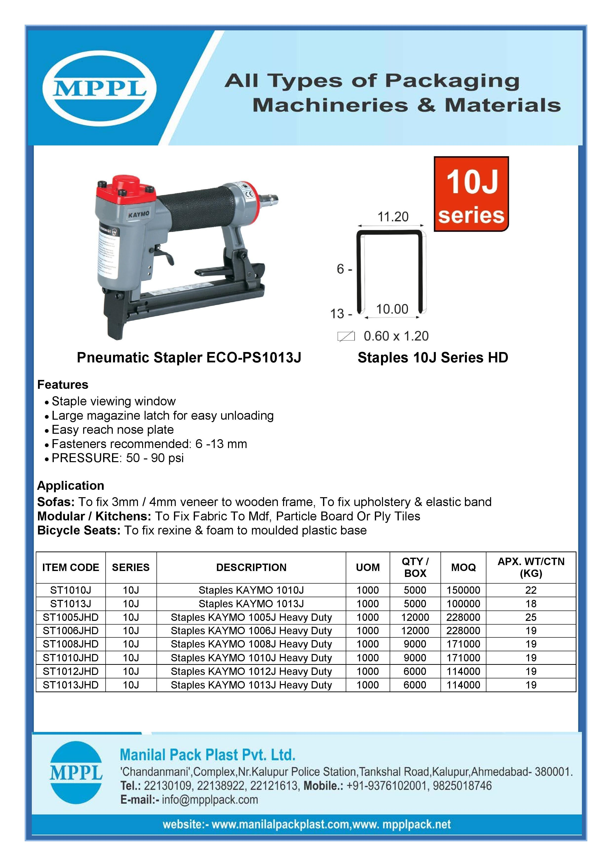 Pneumatic Stapler ECO-PS1013J