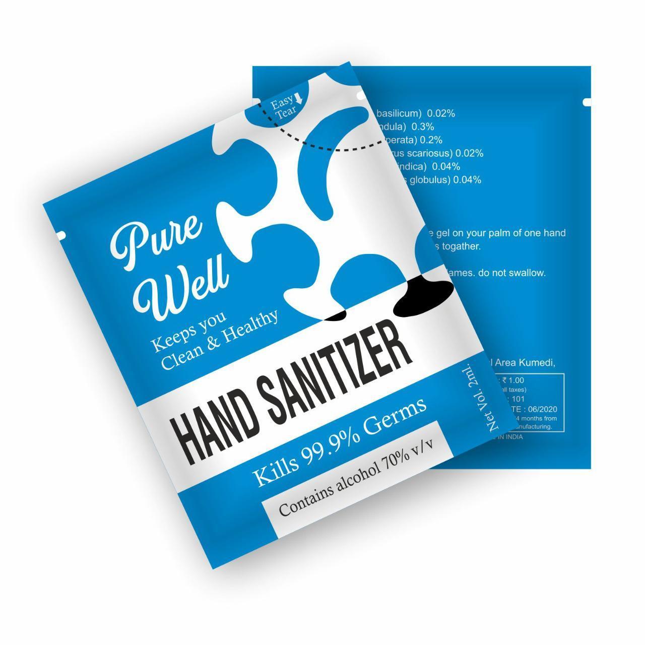 hand sanitizer sachet