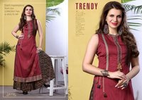 Ladies Printed Rayon Kurti With Palazzo