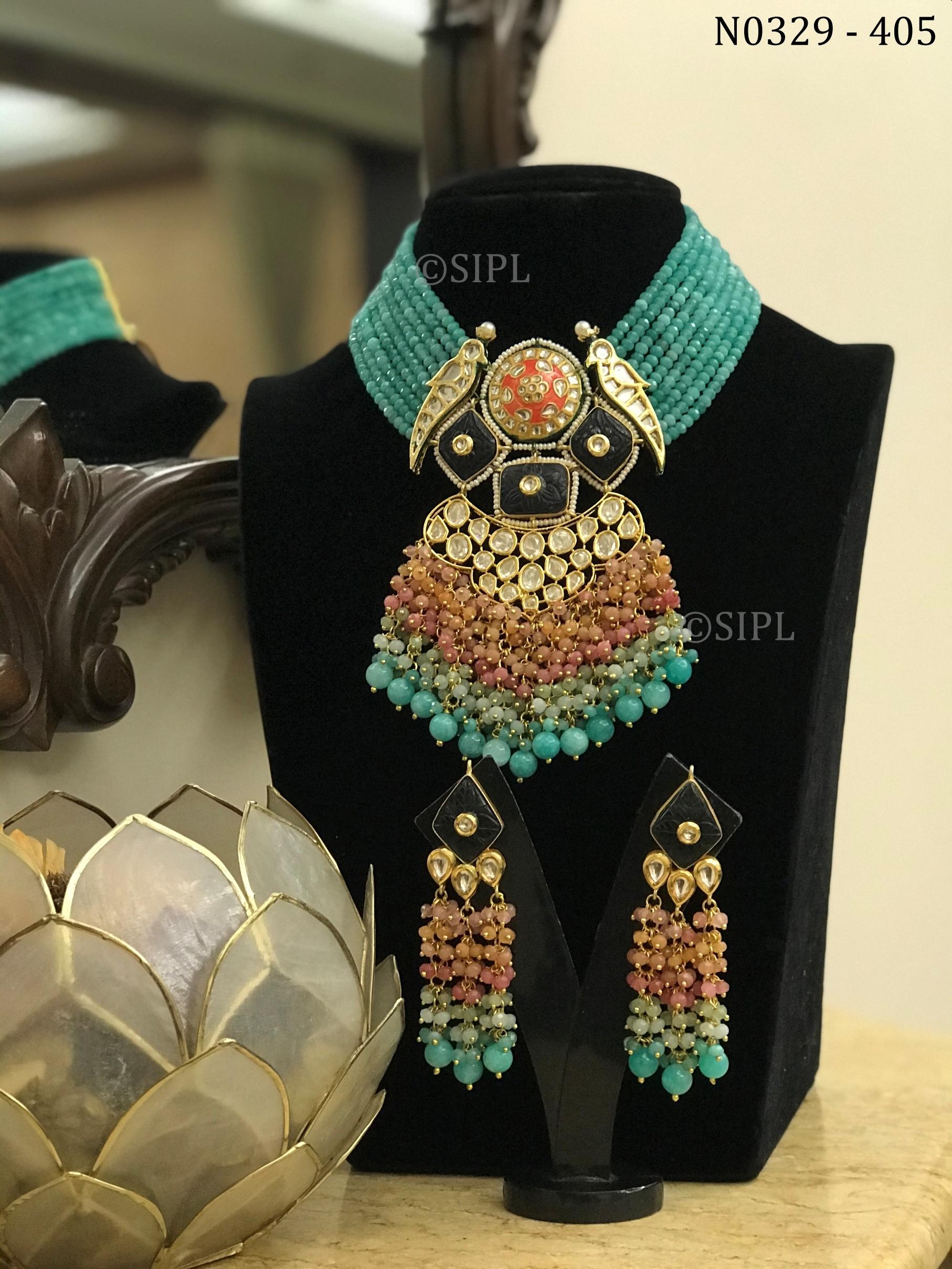 Exclusive Design Uncut Kundan Necklace Set