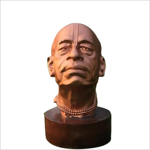 Polished Fiber Prabhupada Bust Sculpture