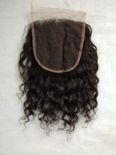 Transparent Curly Lace Closure 4x4
