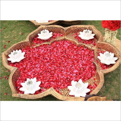 Fiber Stage Decoration Diya Shaped Bowl