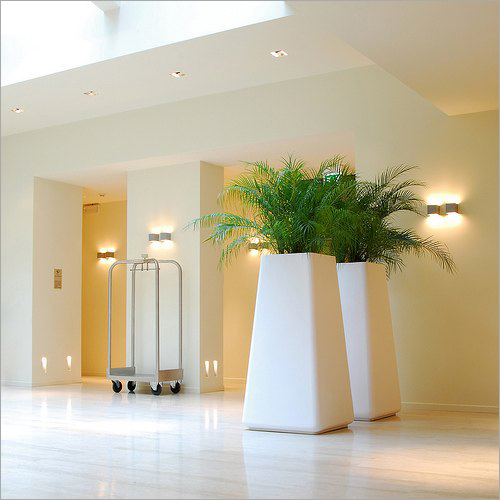 White Polished Fiberglass Vase