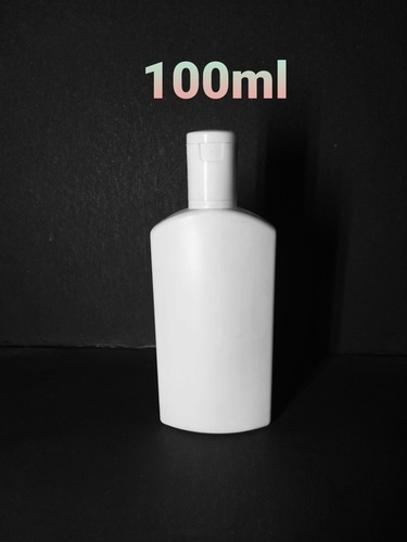 100ml White HDPE Flat Bottle