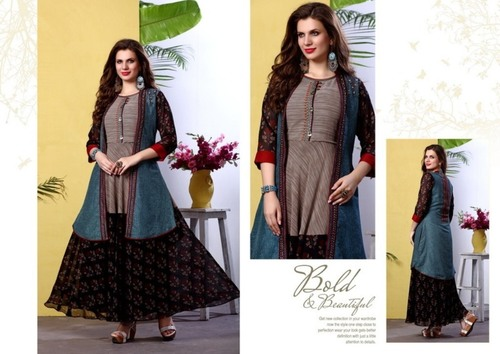 Long Fancy Georgette kurti