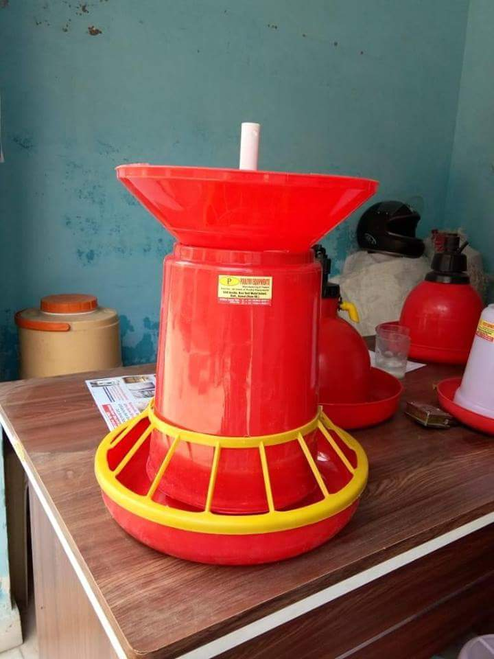 grower feeder 8 kg with grill and cone