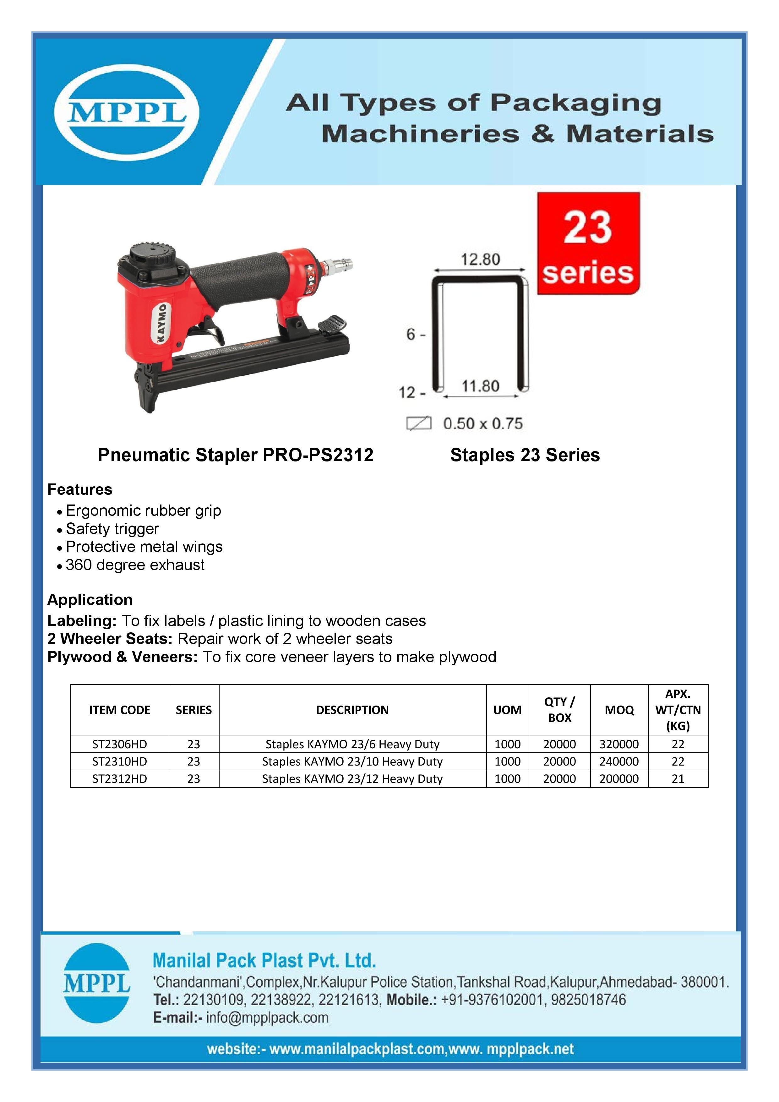 Pneumatic Stapler PRO-PS2312