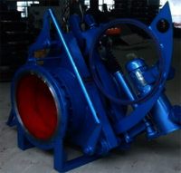 Hydraulic sector blind plate valve