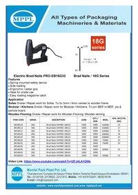 Electric Brad Nailer PRO-EB18G32
