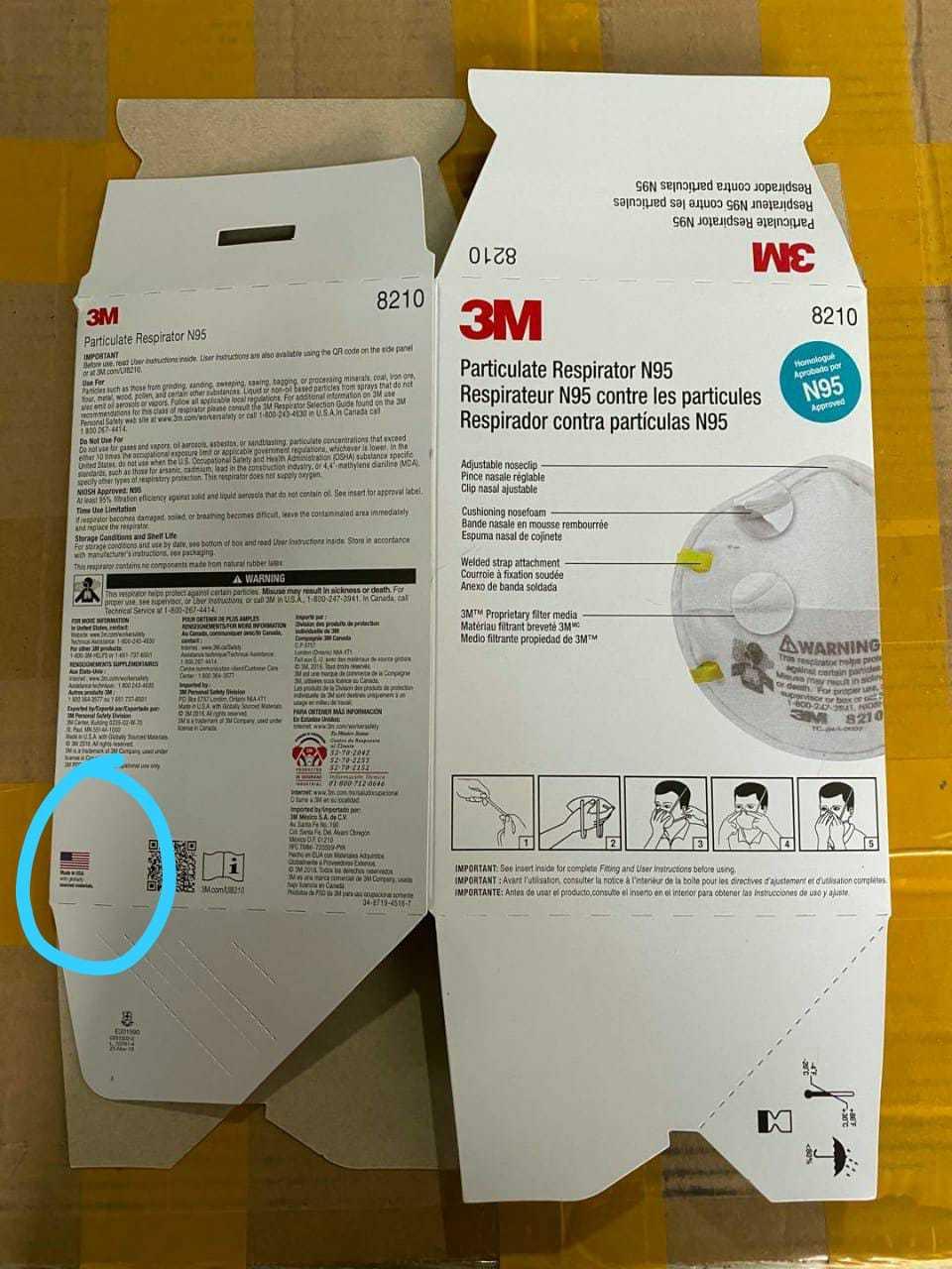 3M N95 8210 Face Mask
