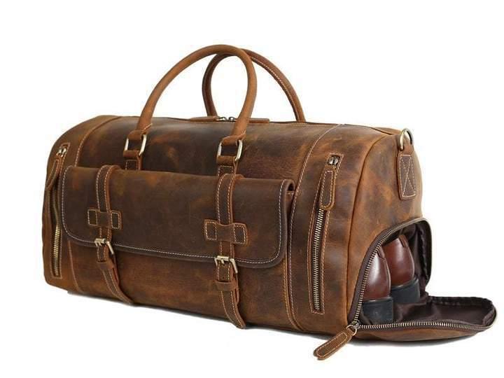 Buffalo Leather Duffel Bag