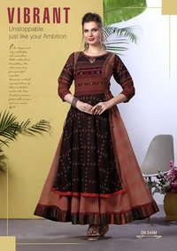Fancy Long Rayon Kurti