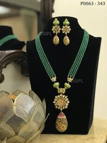 Beautiful Peacock Design Pendant Set