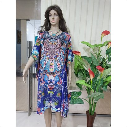 Available In Different Color Ladies Georgette Kaftan