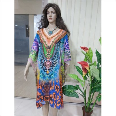 Available In Different Color Georgette Stylish Kaftan