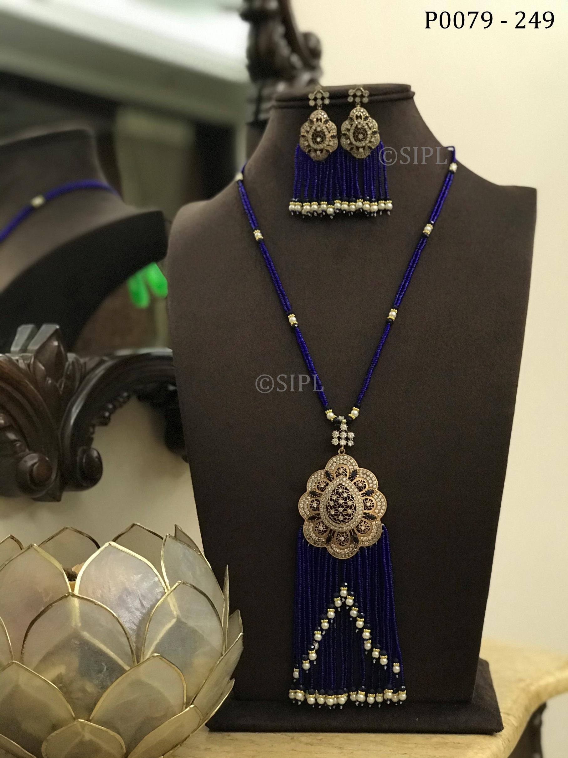 Classy American Diamond Pendant Set