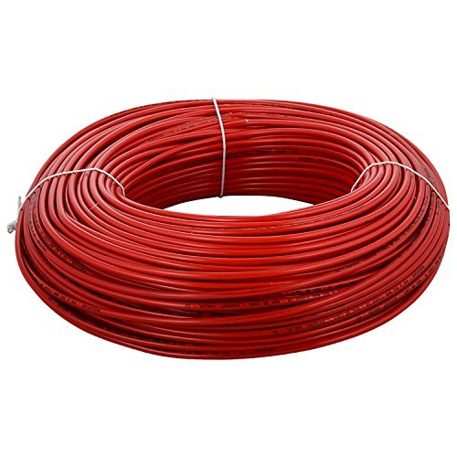 Polycab 1 Sqmm Single core Fr Pvc Ins. Copper Flexible Cable Red As Per Is 694