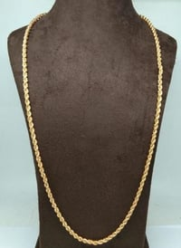 Latest Gold plated Mens Chain (30 Inch)