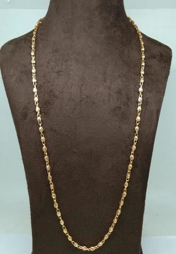 simple design Gold plated mens chains(30 Inch)