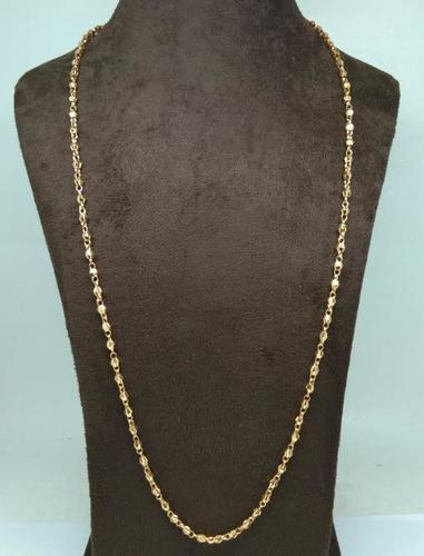 Indian Style Gold Plated Mens Chain(30 Inch)
