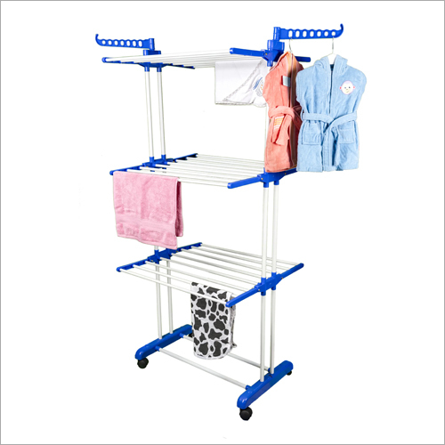 Wheeled Cloth Drying Stand