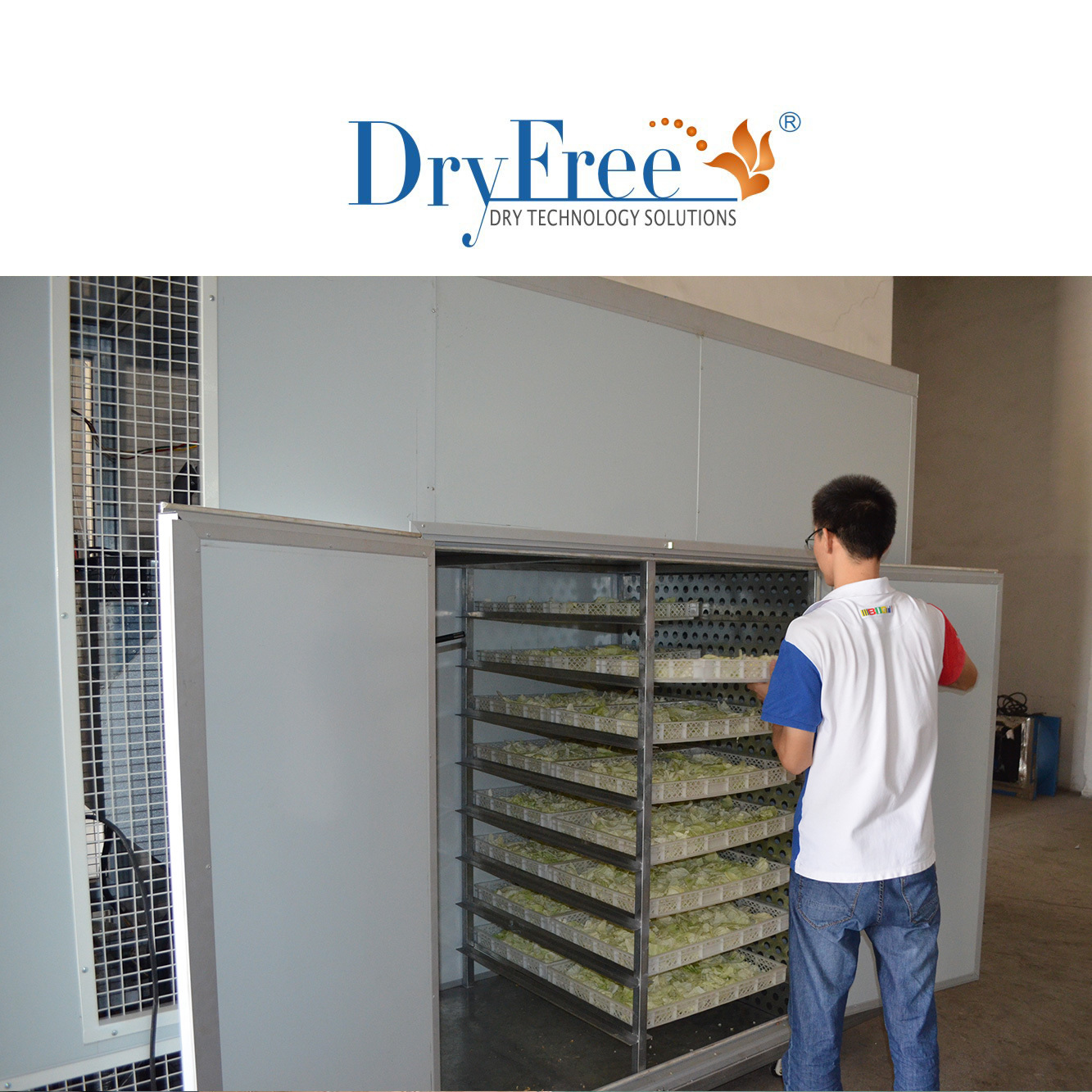 Hot air solar dry machine for food
