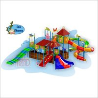Water Slide Multi Play System With Sea Theme