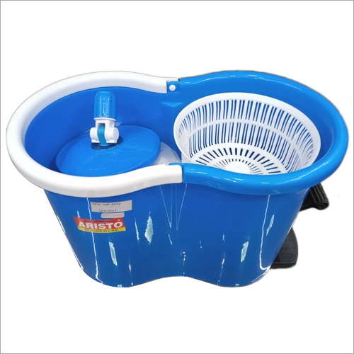 Spin Mop Easy with Plastic Basket