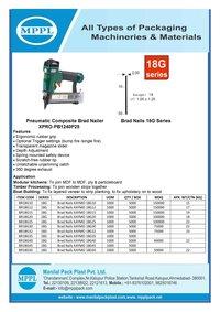 Pneumatic Composite Brad Nailer Xpro-PB1240P25