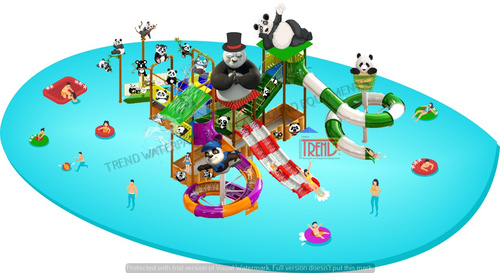 Water Slide Multi Play System With Pandatheme