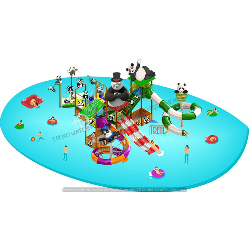 Water Slide Multi Play System With Panda Theme