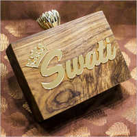 Wooden Customized Name Clutches