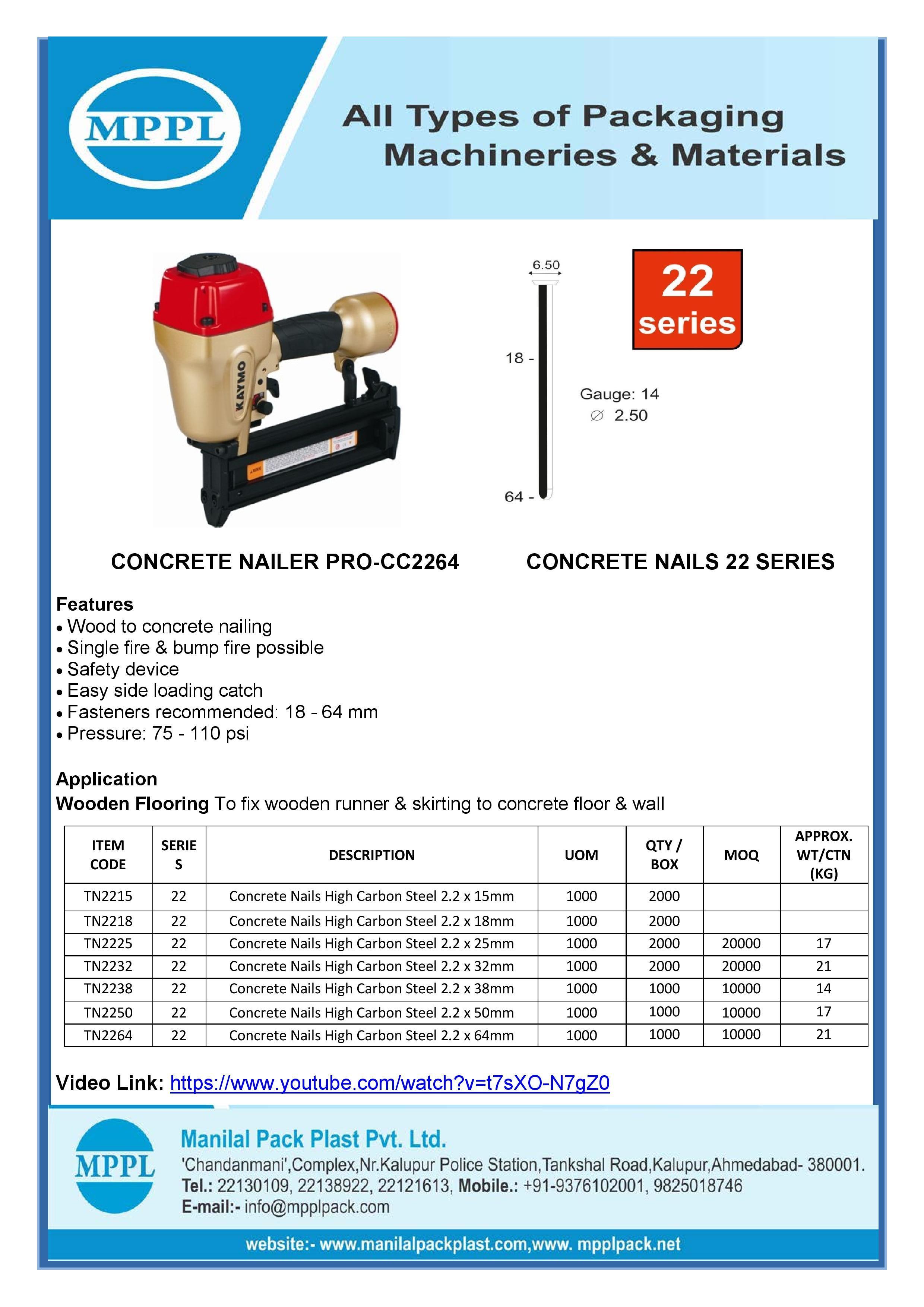 Concrete Nailer PRO-2264
