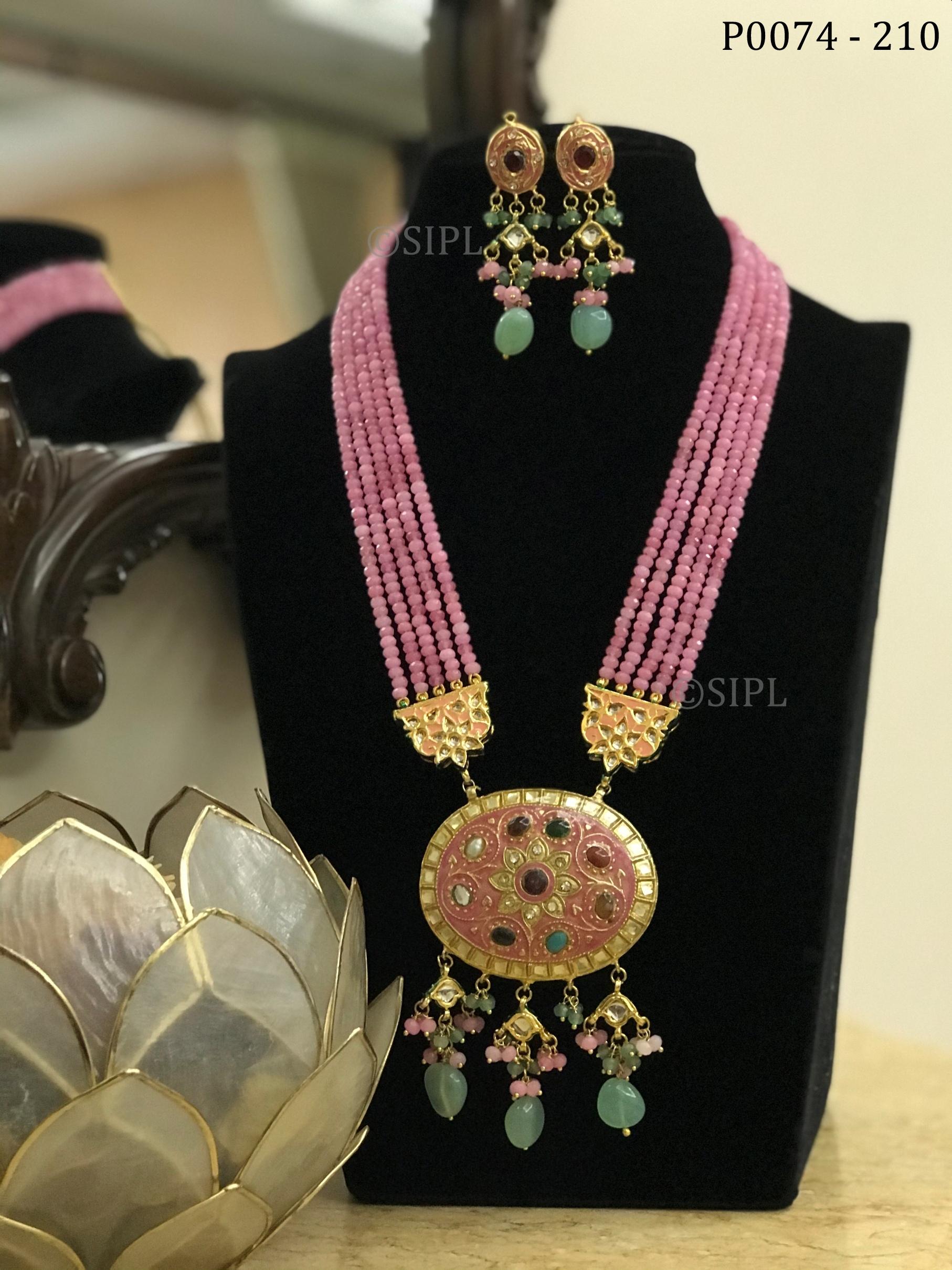 Beautiful Tanjore Style Pendant Set