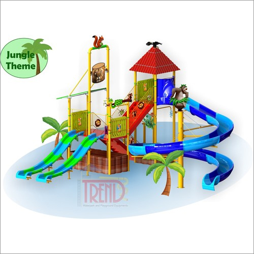 Water Slide Multi Play System With Jungle Theme