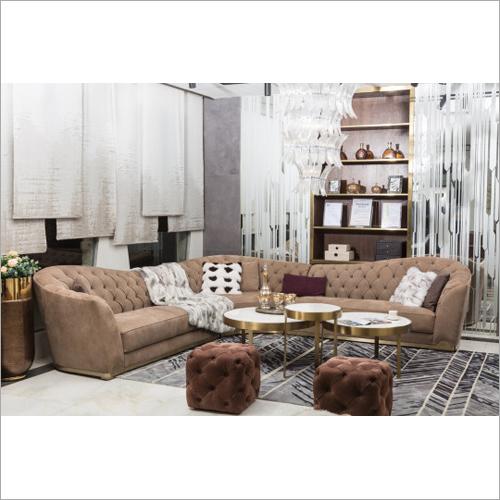 Modern Furniture Leather Suede Sofa