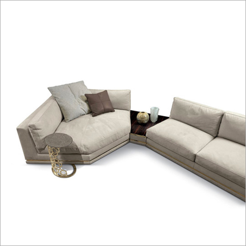 Designer Modern Leather Suede Sofa