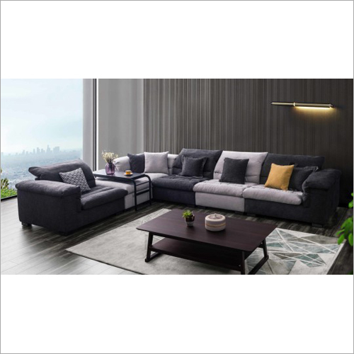 L Shape Designer Furniture Sofa Fabric
