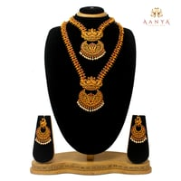 Latest New Design Antique Dual Half Necklace Set