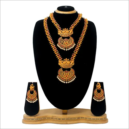 Antique Dual Half Necklace set For women