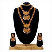 Antique Dual Half Necklace set For women