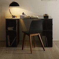 Wire Mesh Study Table With Chair