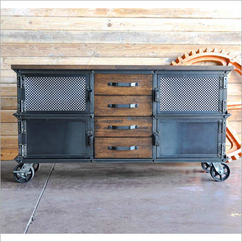 Boxcar Wood Ellis Cabinet