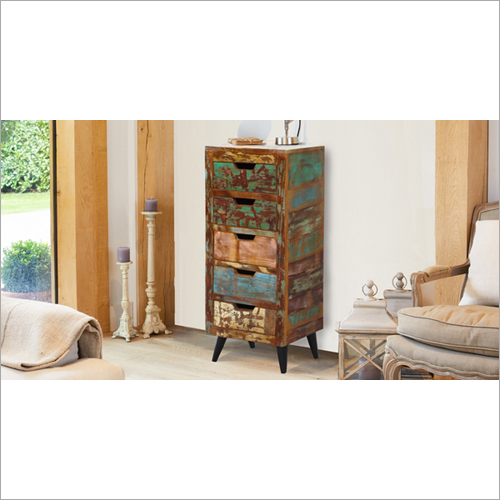 Wooden Wrought Iron Cabinet