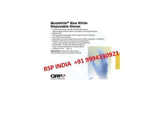 Qualatrile Blue Nitrile Disposable Gloves